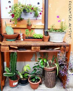 DIY: pallet garden table