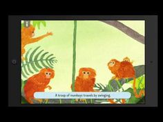 Demo from the storybook app A Troop is a Group of Monkeys. Dial M For Murder, Parrots, Monkeys, App, Group, Youtube, Painting, Animals, La La Land