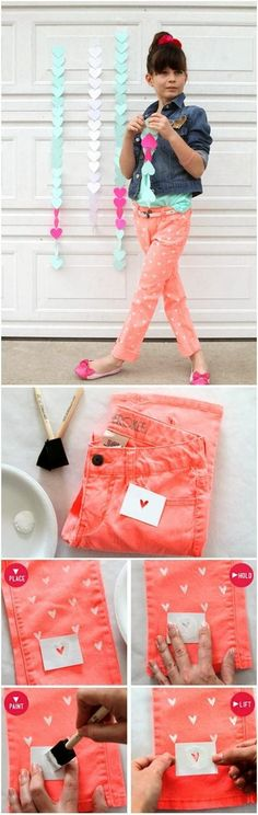 COOL DIY IDEAS: DIY Painted Heart on your Jeans