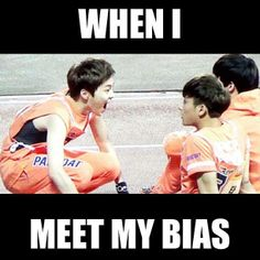 "Aw When I Meet My Bias Lol,,, xiumin making this reaction but actually this would be ""my reaction"" when i meet u ..."