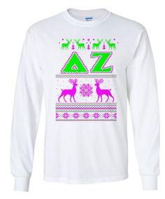 Delta Zeta Ugly Sweater Long Sleeve Tee by greekgearcom on Etsy