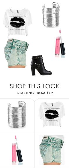 """""""with Madison beer"""" by slayyeettia ❤ liked on Polyvore featuring NLY Accessories, Laura Geller, Rock Revival and Valentino"""
