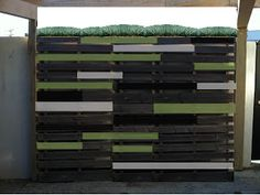 mod mom furniture - life in my garage: Creating an Outdoor Feature Wall Using Old Pallets-- A Work in Progress, By Scott Hathcock