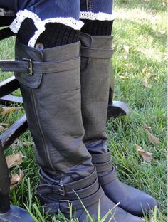These+Black+Boot+socks+make+cute+gifts!+Look+good+with+tall+boots+and+cowboy+boots!