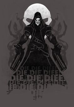 My version of Reaper Ultimate speech! Hope you like it! this design was a tshirt but Blizzard nerf me XD Reaper Overwatch Drawings, Overwatch Reaper, Overwatch Fan Art, Faucheur Overwatch, Overwatch Wallpapers, Nerd, Comic Games, Game Art, Video Games