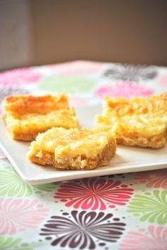 chess bars...cream cheese and cake mix