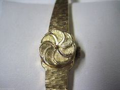 VINTAGE 14K YELLOW GOLD CASE BAND ALTAIR INCABLOC 17 JEWELS WOMEN'S DRESS WATCH Ladies Dress Watches, Ebay Auction, Jewels, Band, Yellow, Accessories, Vintage, Free, Sash