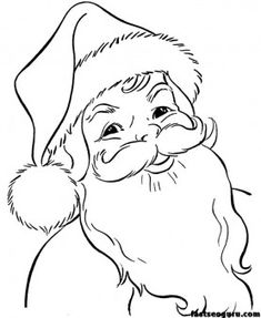 coloring pages of christmas Santa Claus Face - Printable Coloring Pages For Kids