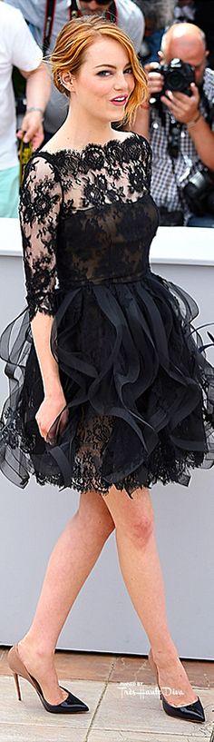 #Emma #Stone in Oscar de la Renta