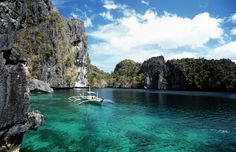 Palawan, Philippines - pristine sandy beaches and the surreal turquoise water.