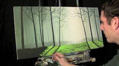 Time Lapse Surreal Painting The Misty Forest by Tim Gagnon http://www.timgagnonstudio.com, via YouTube.