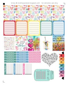 stick to your plan: Love a Rainbow - Free Printable {PDF and Silhouette files}: