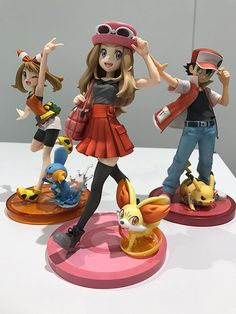 Awesome figures of Serena, May, and Red!! Need them aaaaaal!