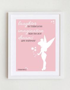 Disney Quote  Tinkerbell by GreenSplashDesigns on Etsy, $10.00