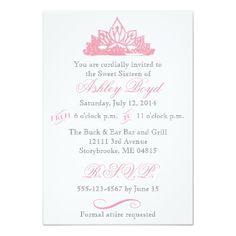 Pink Princess Sweet Sixteen Invitation