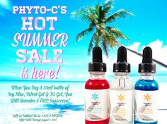 Summer Sale @ PHYTO-C! Contact us to find out more @ 1·877·4PHYTOC