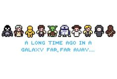 Star Wars Characters Cross Stitch Pattern