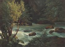 Stream in Auvergne near Royat - Theodore Rousseau