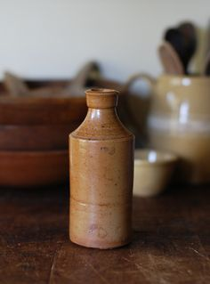 Antique English Stoneware Bottle - P & J Arnold London