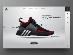 Adidas EQT GPR Product Page 2 designed by Rob Robertson. Connect with them on Dribbble; Website Design Inspiration, Banner Design Inspiration, Website Design Layout, Web Design Tips, Ad Design, Website Designs, Photoshop Design, Ducati, Well Designed Websites