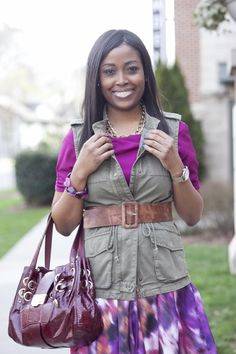 What I Wore - Transitioning To Spring Utility Vest, What I Wore, Business Casual, Dress Skirt, Style Inspiration, My Style, Spring, Skirts, How To Wear
