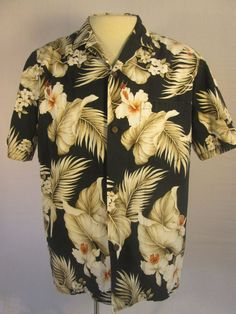 ROYAL CREATIONS Hawaiian Mens Shirt Multi-color Floral Mens Large Made in Hawaii #RoyalCreations #Hawaiian