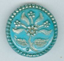 ~swoon~!!  Victorian blue glass button