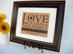 Personalized Burlap Print Rustic Sign Wall by InTheDustDesigns