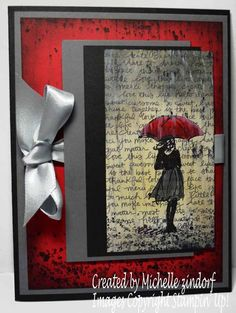 Let it Rain – Stampin' Up! Card created by Michelle Zindorf - Beautiful You