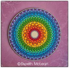 Rainbow Chakra Mandala by Elspeth McLean #rainbow #chakra #dots #elspethmclean #happyart #rainbowart #spiritual