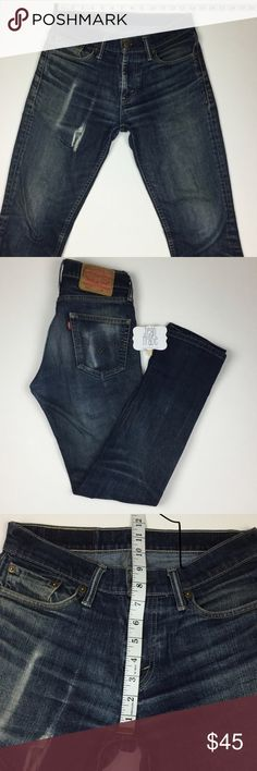 Levi's jeans This Levi's are 30 by 32 , measurements are also posted on the pictures. This jeans have that vintage look to it 🔥👍👌 Levi's Jeans Slim Straight
