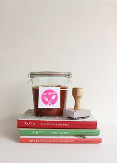 Bon appétit rubber stamp // homemade holiday gifts
