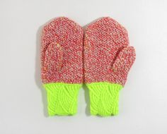 mittens with neon.