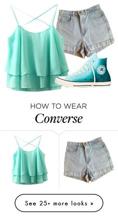 """""""Untitled #43"""" by iouzzani on Polyvore featuring American Apparel and Converse"""