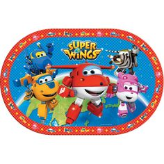 Set de table super wings en plastique (44 cm) - Annikids