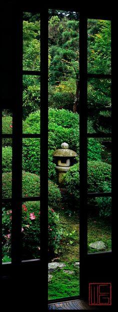 View of the Garden, Anraku-Ji, Kyoto