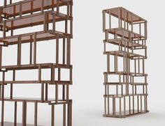 singapore-based industrial designer nathan yong has created two furniture pieces for italian manufacturing and production company living divani. both the shelf and the stacking containers will be shown at the 2012 salone internazionale del mobile in milan.