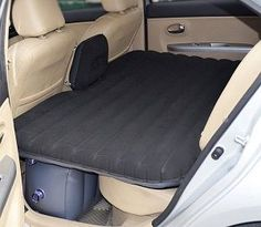Inflatable Air Bed for Car / SUV backseat.  This backseat mattress can be fully inflated within only 2 minutes. Perfect for road trips, camping or just living in your vehicle.