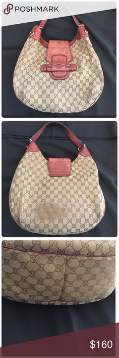 Authentic Gucci dressage GG bag Preloved, reposhing coz I bought a brand new soho bag. Shows sign of normal wear and rubbing which is typical of the fabric that Gucci uses. See photos. This is authentic, price to sell coz of the rubbing. Gucci Bags Satchels