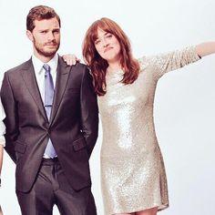 AWWWWW *___* I LOVE THEM #DakotaJohnson #JamieDornan