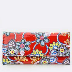 Red Floral Wallet - so cute for an evening out