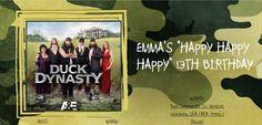 Creativi-Teen: Duck Dynasty Birthday Party!