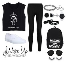 """""""Untitled #117"""" by loveashton ❤ liked on Polyvore featuring Donna Karan, Vans, BERRICLE, Nixon and 3.1 Phillip Lim"""