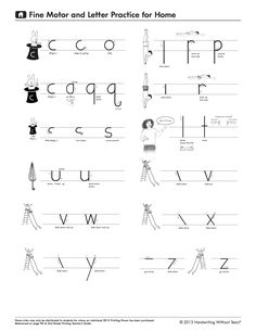 1000 images about handwriting without tears on pinterest for Handwriting without tears letter templates