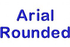 Arial Rounded Machine Embroidery Fonts 1094 by EmbFonts on Etsy, $6.00