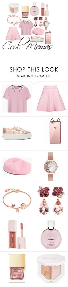 """""""Cool Memes (I'm back)"""" by stg2704 ❤ liked on Polyvore featuring Max&Co., Cushnie Et Ochs, Superga, Madewell, Olivia Burton, Disney, Anyallerie, Puma and Chanel"""