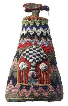 Africa   Yoruba Beaded Crown