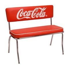 lavieen: American diner COCA-COLA BRAND Coca-Cola brand diner table, chair, four points of set West Coast style interior American miscellaneous goods of the bench sheet Coca Cola Cake, Coca Cola Decor, Coca Cola Brands, Coca Cola Kitchen, Diner Table, Always Coca Cola, World Of Coca Cola, Teacher Signs, American Diner