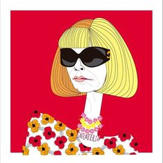 Anna Wintour Illustration ✍💄#caratelia #illustration #retratos #tucara #portrait #regalos #cuadros #diadelamujer #barcelona #pictureoftheday #annawintour #annawintourcostumecenter #vogue #voguemagazine #wintour #fashion #fashionblogger #fashiondiaries #sunglasses #woman #red #celebrities #style