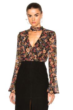 Image 1 of NICHOLAS Frill Top in Black
